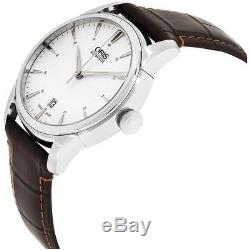 Oris Artelier Homme 40mm Bracelet Cuir Automatique Montre 01 733 7670 4051-LS