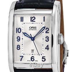 Oris Homme Bracelet Cuir Bleu Saphire Automatique Montre 01 561 7692 4031-LS