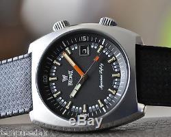 PRECIMAX AQUAMAX SAFETY SWISS DATE DIVER 2 COURONNES AUTOMATIQUE ETA 2788 ca1970