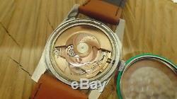 RARE montre suisse automatique homme DAMAS acier date ETA 2472 RESTAURÉE RÉVISÉE