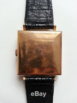 RARE vintage MONTRE HOMME automatique SIGMA VALMON en OR 18K bracelet en CUIR