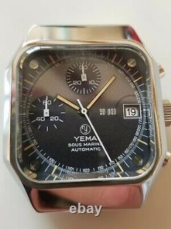 Rare boitier de montre marque Yema chronographe automatique sous-marine NOS NAD