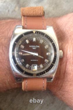 Rare montre HISLON 25 Automatique date SUPER COMPRESSOR 1970, ETA 2783