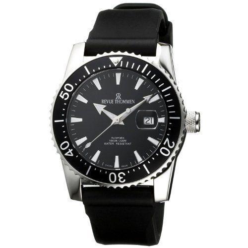 Revue Thommen -17030.2537 -montre Homme Automatique Digital Bracelet Caoutchou