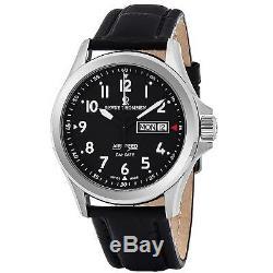 Revue Thommen Airspeed Homme 42mm Bracelet Cuir Automatique Montre 16020.2537