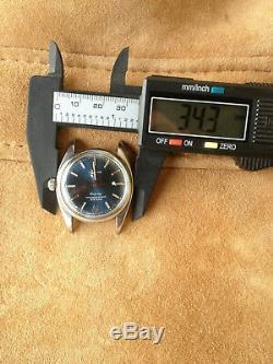 Rolex 6556 case n°138781, montre automatique, cadran bleu Airking signé singer