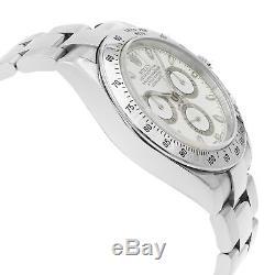 Rolex Daytona Cadran Blanc 116520 Acier Inoxydable Montre Automatique pour Homme