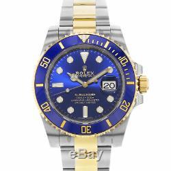Rolex Submariner 52894.5kg Bleu sur Acier 18K or Jaune Automatique Hommes Montre