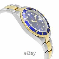 Rolex Submariner Bleu sur Bleu 18k or Jaune Acier Montre Automatique pour Homme