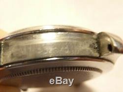 Rolex or/acier automatique n°6105, 36 mm, année 50, verre plexiglas cadran blanc