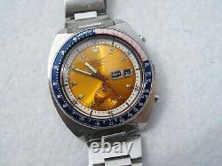 Seiko Pogue Pepsi 6139 6002 Montre Chronographe Automatique Entierement Révisé C