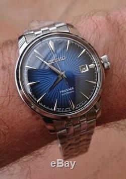 Seiko Presage Homme Automatique bleu 4r35a 24 jewels bracelet acier