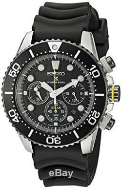 Seiko SSC021P1 Solar Diver's Montre Homme Automatique Chronographe Cad