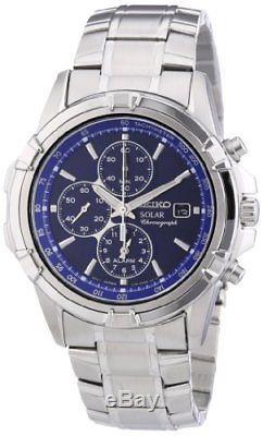 Seiko SSC141P1 Montre Homme Automatique Chronographe Bracelet Acier In