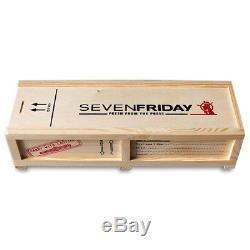 Seven Friday S-SERIES Homme 48mm Bracelet Cuir Noir Automatique Montre S1-01