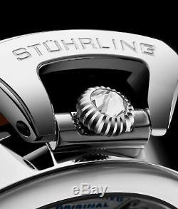 Stuhrling Emperor's Grand Double Temps Automatique Se Remonte Seule Robe Montre