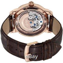Stuhrling Original Anatol Homme 47mm Bracelet Cuir Automatique Montre 371.03