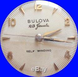 Superbe Montre Bulova Homme automatique 23 jewels révisée Fonctionne