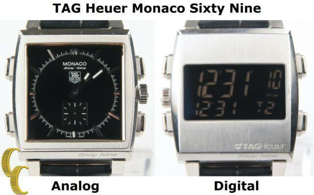 Tag Heuer Monaco Sixty Nine Cw9110-0 Automatique Réversible Montre Hommes