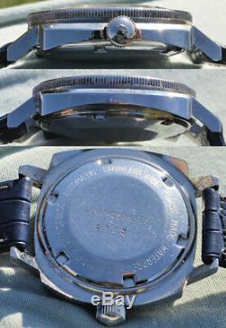 Très Rare Montre Dreffa Géneve Diver Automatique Swiss Made Plongée 200 Mt. Ans