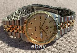 Vintage RADO Voyager Men's Gold & SS Automatic Watch Montre Homme Automatique