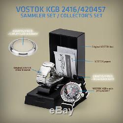 Vostok Kgb Montre de Plongée 200M Automatique Militaire Machanische Fond Verre