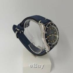 Walter Mitt Marine Diver Acier Automatique Bleu Vintage Unisex Cuir Montre