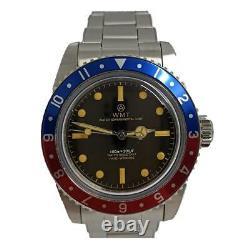Walter Mitt Sea Diver Bracelet Acier Automatique Rouge Noir Bleu Vintage Montre