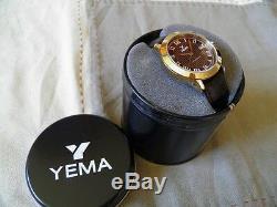Yema Automatique Neuve Cadran Chocolat Chiffres Romains Guilloché Clou De Paris
